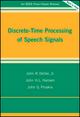 Discrete-Time Processing of Speech Signals (0780353862) cover image