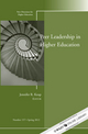 Peer Leadership in Higher Education: New Directions for Higher Education, Number 157 (1118310462) cover image