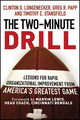 The Two Minute Drill: Lessons for Rapid Organizational Improvement from America's Greatest Game (1118431162) cover image
