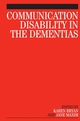 Communication Disability in the Dementias (1861565062) cover image