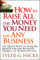 How to Raise All the Money You Need for Any Business: 101 Quick Ways to Acquire Money for Any Business Project in 30 Days or Less  (0470191163) cover image