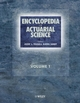 Encyclopedia of Actuarial Science, 3-Volume Set (0470846763) cover image