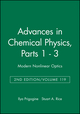Advances in Chemical Physics, Volume 119, Parts 1 - 3: Modern Nonlinear Optics, 2nd Edition (0471387363) cover image