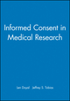 Informed Consent in Medical Research (0727914863) cover image