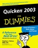 Quicken 2003 For Dummies (0764516663) cover image