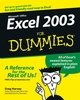 Excel 2003 For Dummies (0764537563) cover image