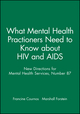 What Mental Health Practioners Need to Know about HIV and AIDS: New Directions for Mental Health Services, Number 87 (0787914363) cover image