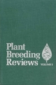 Plant Breeding Reviews, Volume 1 (1118061063) cover image
