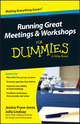 Running Great Meetings and Workshops For Dummies (1118770463) cover image