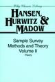 Sample Survey Methods and Theory, Volume 2: Theory (0471309664) cover image