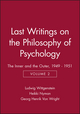 Last Writings on the Philosophy of Psychology: The Inner and the Outer, 1949 - 1951, Volume 2 (0631189564) cover image
