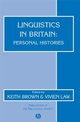 Linguistics in Britain: Personal Histories (0631234764) cover image