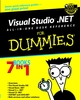 Visual Studio.NET All-in-One Desk Reference For Dummies (0764516264) cover image