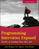Programming Interviews Exposed: Secrets to Landing Your Next Job, 3rd Edition (1118261364) cover image