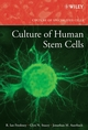 Culture of Human Stem Cells (0470052465) cover image