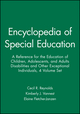 Encyclopedia of Special Education: A Reference for the Education of Children, Adolescents, and Adults Disabilities and Other Exceptional Individuals, 4 Volume Set, 4th Edition