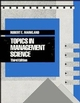 Topics in Management Science, 3rd Edition (0471617865) cover image