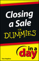 Closing a Sale In a Day For Dummies (1118491165) cover image