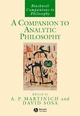 A Companion to Analytic Philosophy (1405133465) cover image
