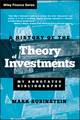 A History of the Theory of Investments: My Annotated Bibliography (0471770566) cover image