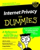 Internet Privacy For Dummies (0764508466) cover image