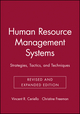 Human Resource Management Systems: Strategies, Tactics, and Techniques, Revised and Expanded Edition (0787945366) cover image