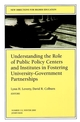 Understanding the Role of Public Policy Centers and Institutes in Fostering University-Government Partnerships: New Directions for Higher Education, Number 112 (0787955566) cover image