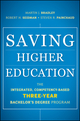 Saving Higher Education: The Integrated, Competency-Based Three-Year Bachelor's Degree Program (1118106466) cover image