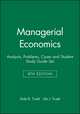 Managerial Economics: Analysis, Problems, Cases 8e & Student Study Guide Set (0470046767) cover image