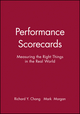 Performance Scorecards: Measuring the Right Things in the Real World (0470910267) cover image