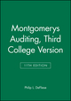 Montgomerys Auditing, 3rd College Version, 11th Edition (0471507067) cover image