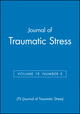 Journal of Traumatic Stress, Volume 19, Number 5 (0470120568) cover image
