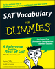 SAT Vocabulary For Dummies (0764525468) cover image