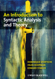 An Introduction to Syntactic Analysis and Theory (1405100168) cover image