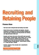 Recruiting and Retaining People: People 09.04 (1841122068) cover image