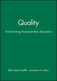 Quality: Transforming Postsecondary Education (1878380168) cover image