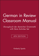 German in Review Classroom Manual: Ubungsbuch der deutschen Grammatik, 4e with Quia Activties Set (0470575069) cover image