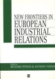 New Frontiers in European Industrial Relations (0631186069) cover image
