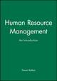 Human Resource Management: An Introduction (0631196269) cover image