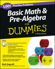 1,001 Basic Math and Pre-Algebra Practice Problems For Dummies (1118446569) cover image