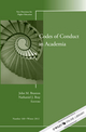 Codes of Conduct in Academia: New Directions for Higher Education, Number 160 (1118540069) cover image