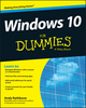 Windows 10 For Dummies (1119049369) cover image