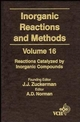 Inorganic Reactions and Methods, Volume 16, Reactions Catalyzed by Inorganic Compounds (047118666X) cover image