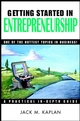 Getting Started in Entrepreneurship (047129456X) cover image
