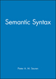 Semantic Syntax (063116006X) cover image