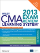 Wiley CMA Learning System Exam Review 2013, Complete Set, Online Intensive Review + Test Bank (111848066X) cover image