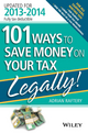 101 Ways to Save Money on Your Tax - Legally! 2013 - 2014 (111862176X) cover image