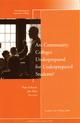 Are Community Colleges Underprepared for Underprepared Students?: New Directions for Community Colleges, Number 144 (0470461470) cover image