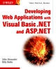 Developing Web Applications with Visual Basic.NET and ASP.NET (0471085170) cover image