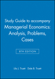 Study Guide to accompany Managerial Economics: Analysis, Problems, Cases, 8th Edition (0471462470) cover image